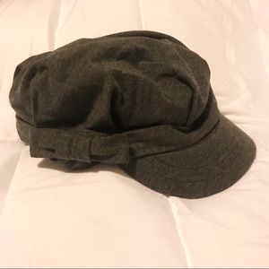 Accessories - Women's Gray Cotton Hat with bow